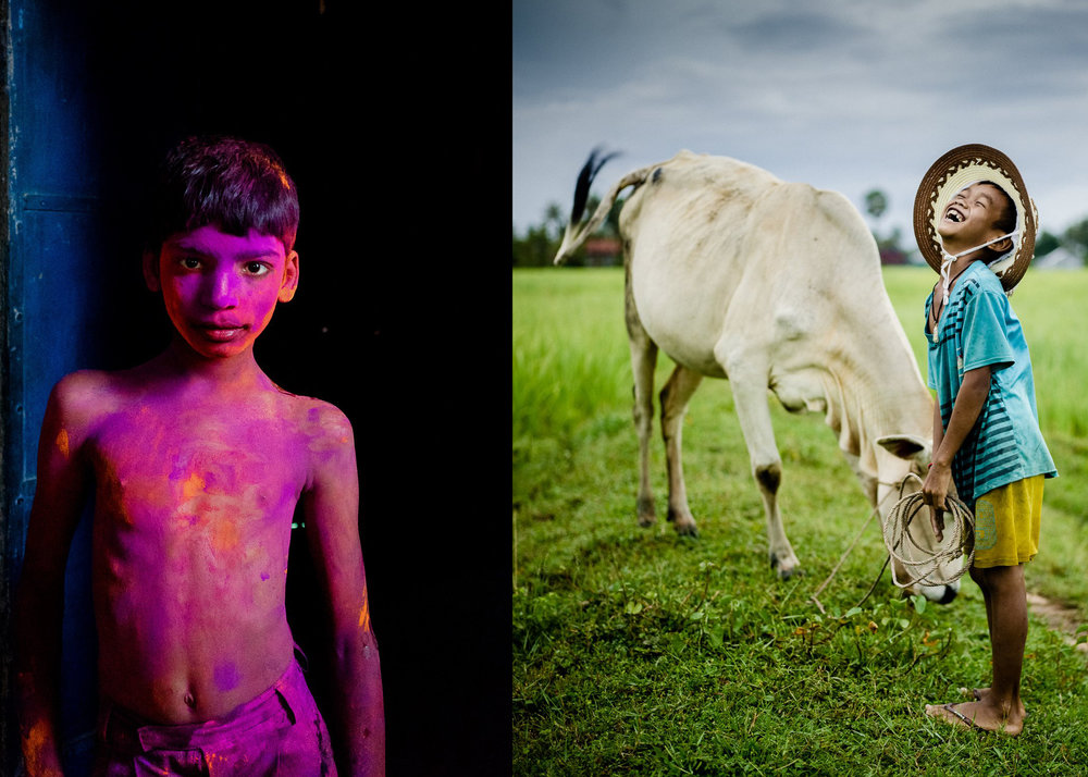 Both images taken by Gary Tyson on F8 Workshop in India and Cambodia