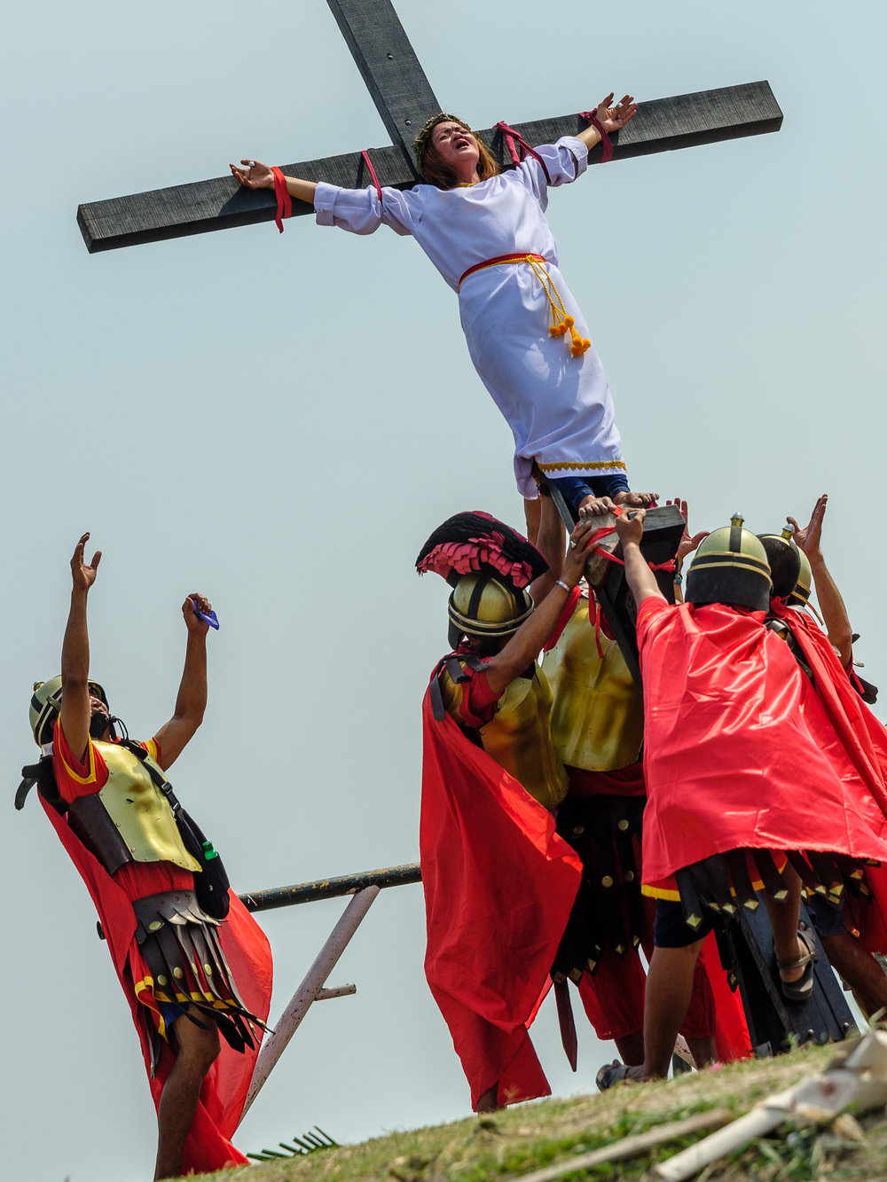 One lady was amongst the Catholic devotees to be crucified with real nails through her hands.