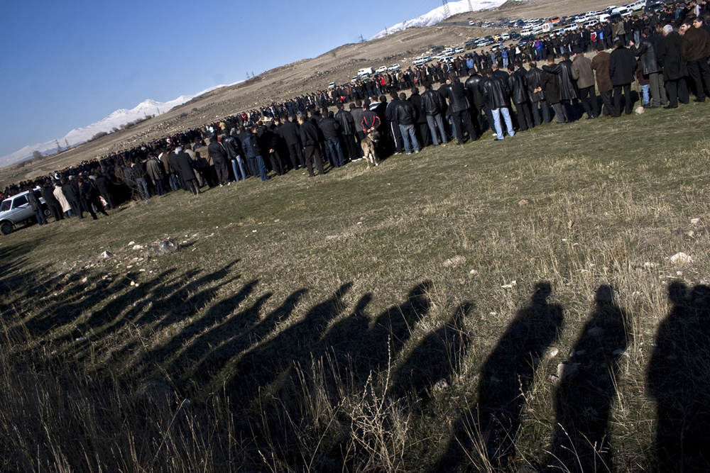 In Zovuni village, people gathered to look at dog fights. Zovuni, Armenia
