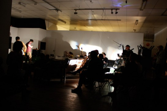 An open performance night with Infinite Decimals, expanded cinema loops by AFW workshop participants, and the Superflux collective from France.