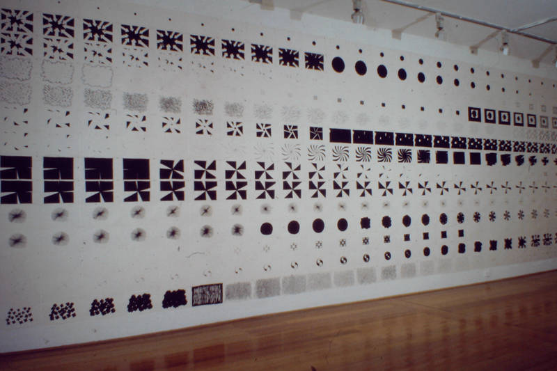 Jonas Balsaitis - Space Time Structures installation view (ACCA, 1993)
