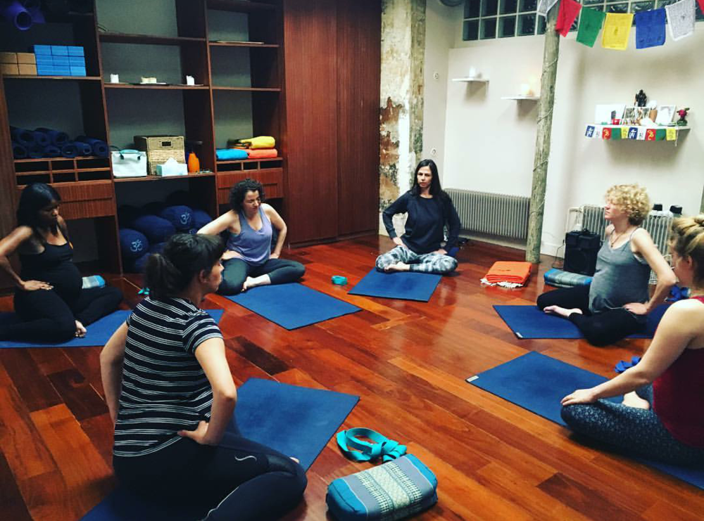 Sharon Bales' prenatal yoga class at Caelo Yoga
