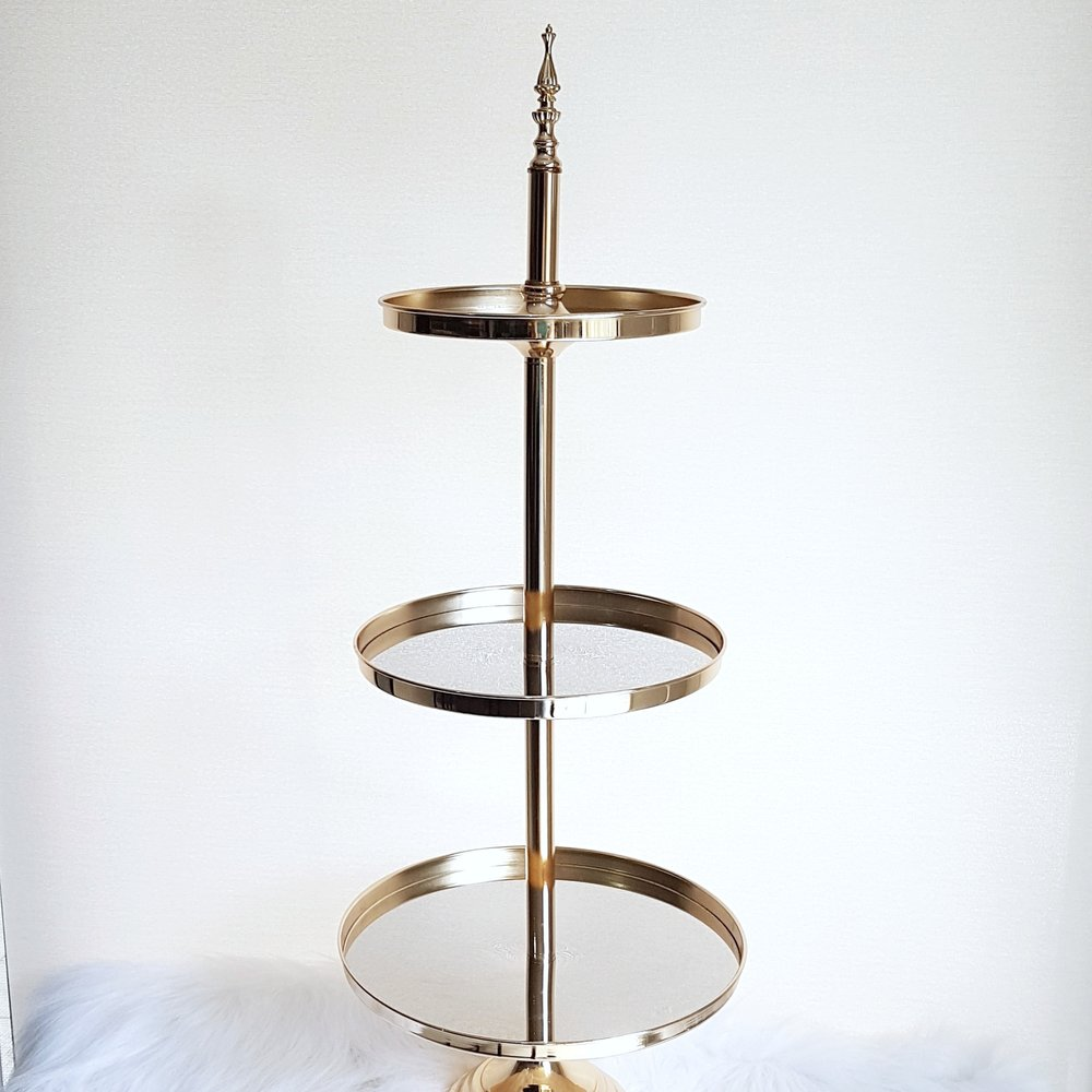 3 Tier Gold Cupcake Stand   $30