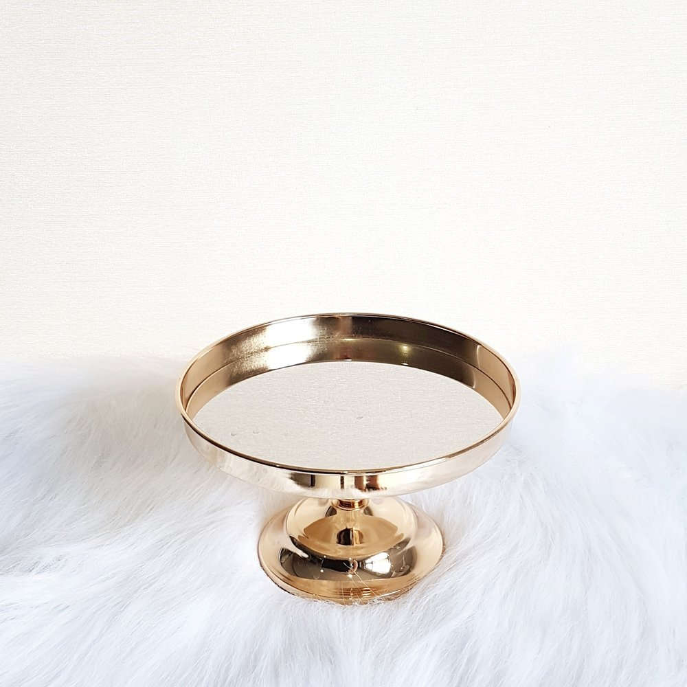 "Glamorous Gold Mirror Cake Stand 8""/12""  $10/20"