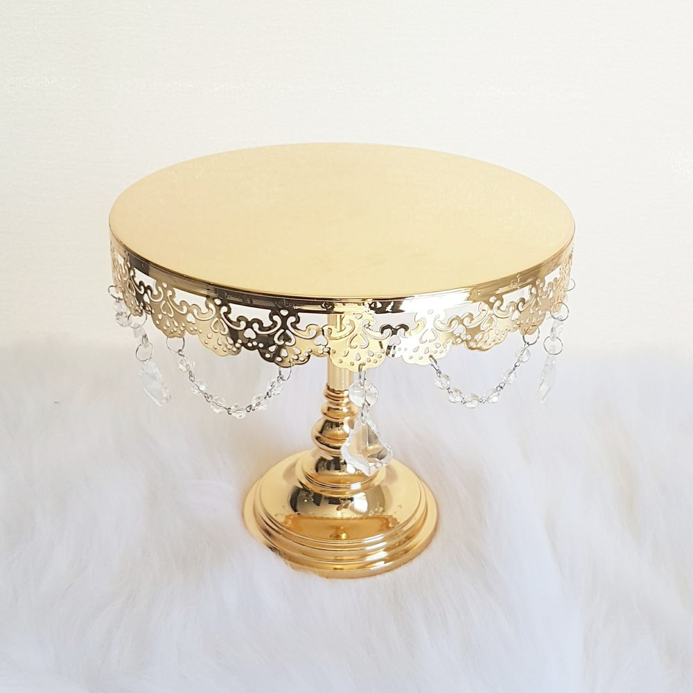 "Gold Crystal Drape Stand - 10""  $20"