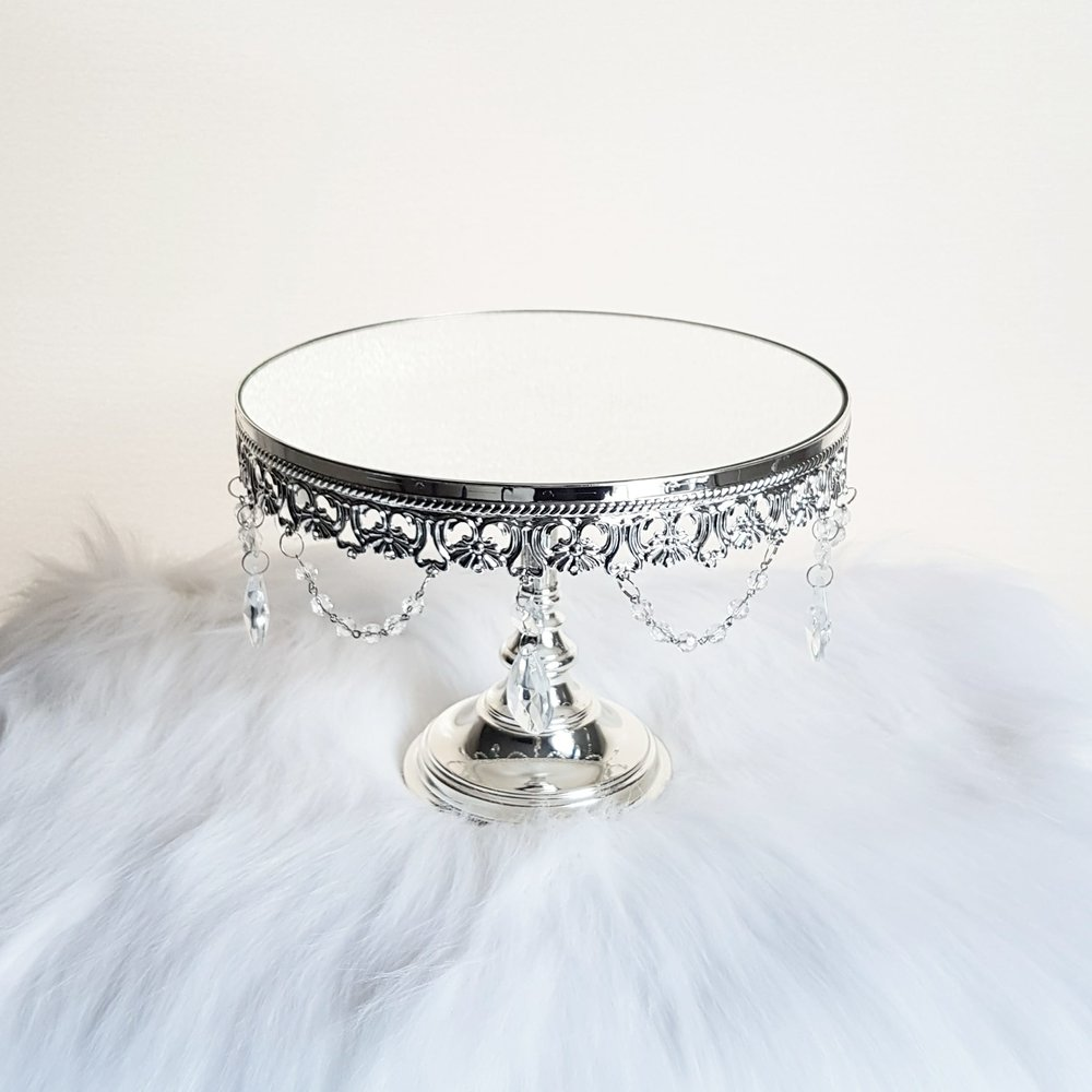 "Silver Plated Crystal Drape Stand - 10""  $20"
