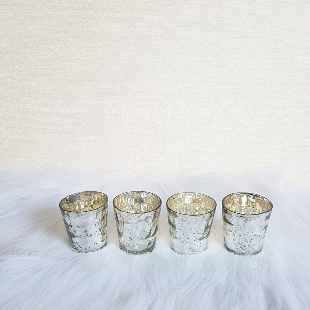 Silver Candle Holders Set of 4  $10
