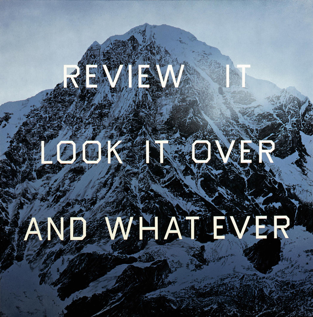 Ed Ruscha's visual interpretation of winter.