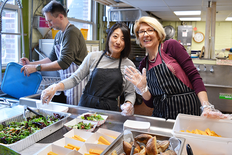 Wow, was lunch delicious! Early birds were in line by 11:00 and kept the Café full all day long. Diners were welcomed and served by Regine Shemroske, Jeanette Voss, and smiling parents from the 2nd and 3rd grade classes.