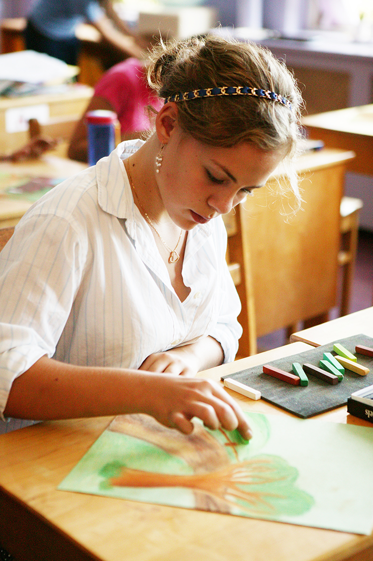 Students graduate from the Waldorf School of Lexington having learned a full spectrum of artistic media and techniques.