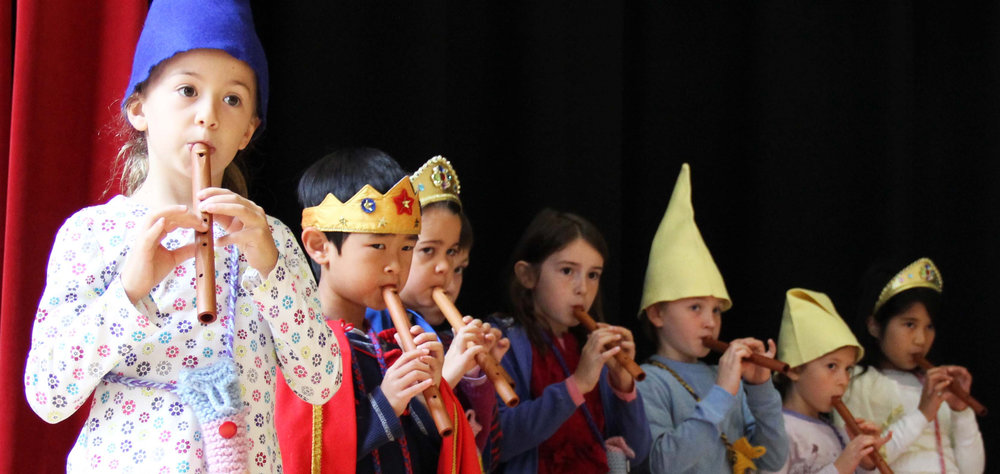 From simple flutes and recorders to string and woodwind instruments, all Waldorf students learn through music, movement, and performing arts. Four-part harmony and class plays are not reserved for kids who audition—at WSL, the arts are for every child.