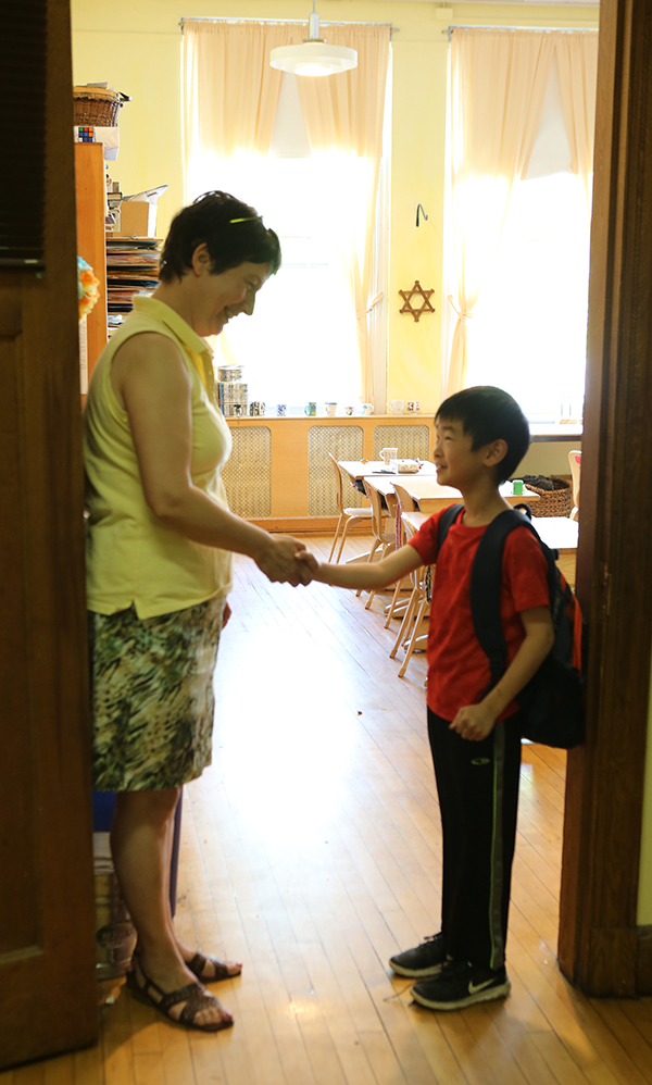 At the Waldorf School of Lexington, we shake hands, hold the door, and look each other in the eye—human connections that our modern world needs.
