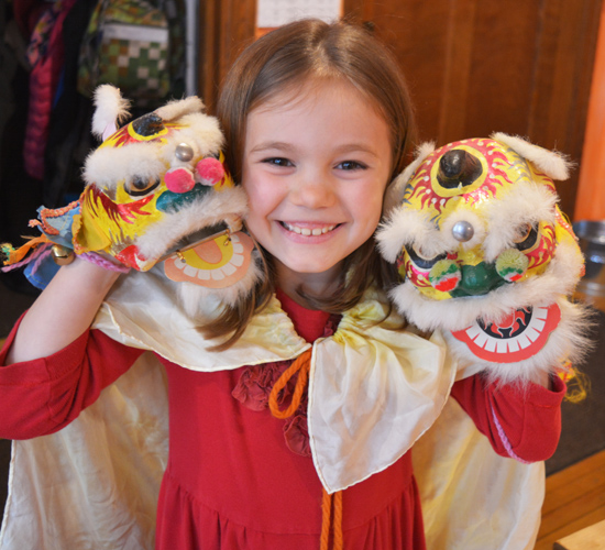 WSL balances challenging academics with the joyful celebration of holidays and festivals. Second graders recently performed a dragon dance in honor of Chinese New Year.