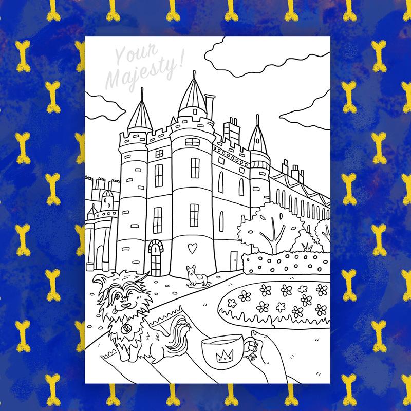 The Holyrood Palace and the Edinburgh's Bobby.