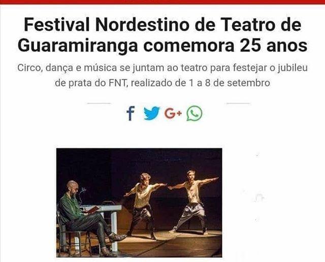 A Invenção Do Nordeste está participando do Festival Nordestino Teatro. Nascemos um para o outro não é? E estamos ansiosos para encontrar nossos queridos Guaramiranguenses mais que amigos, friends e fazer um festival lindo no Ceará.  Esperamos ser recebidos com muito amor e afeto, do único jeito que se pode ser recebido com dignidade em Guaramiranga: Com uma bela vaia cearense! #FestivalNordestinoDeGuaramiranga #Teatro #Carmin