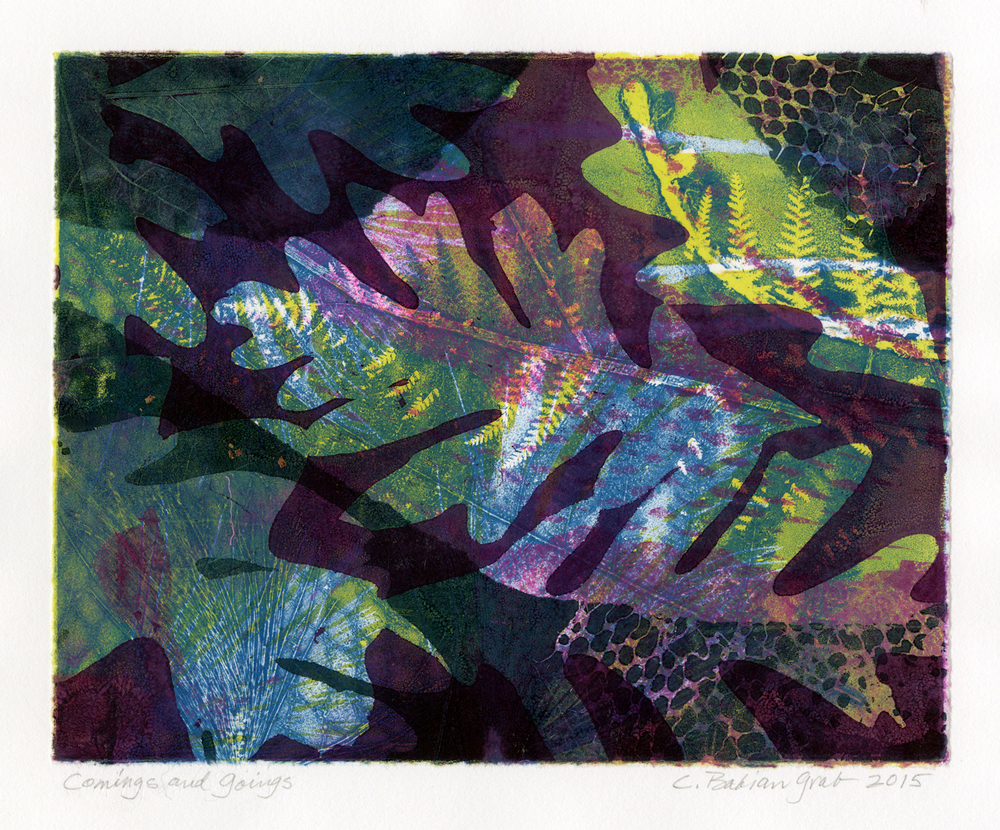 Comings and Goings,  monotype, 9 x 11 inches, 2015