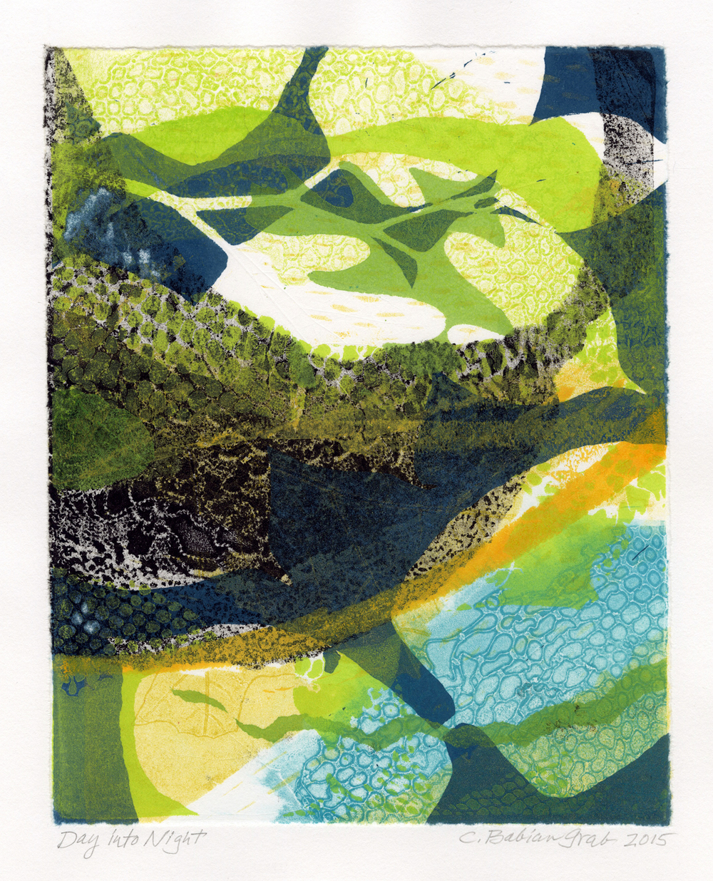 Day Into Night,  monotype, 11 x 9 inches, 2015