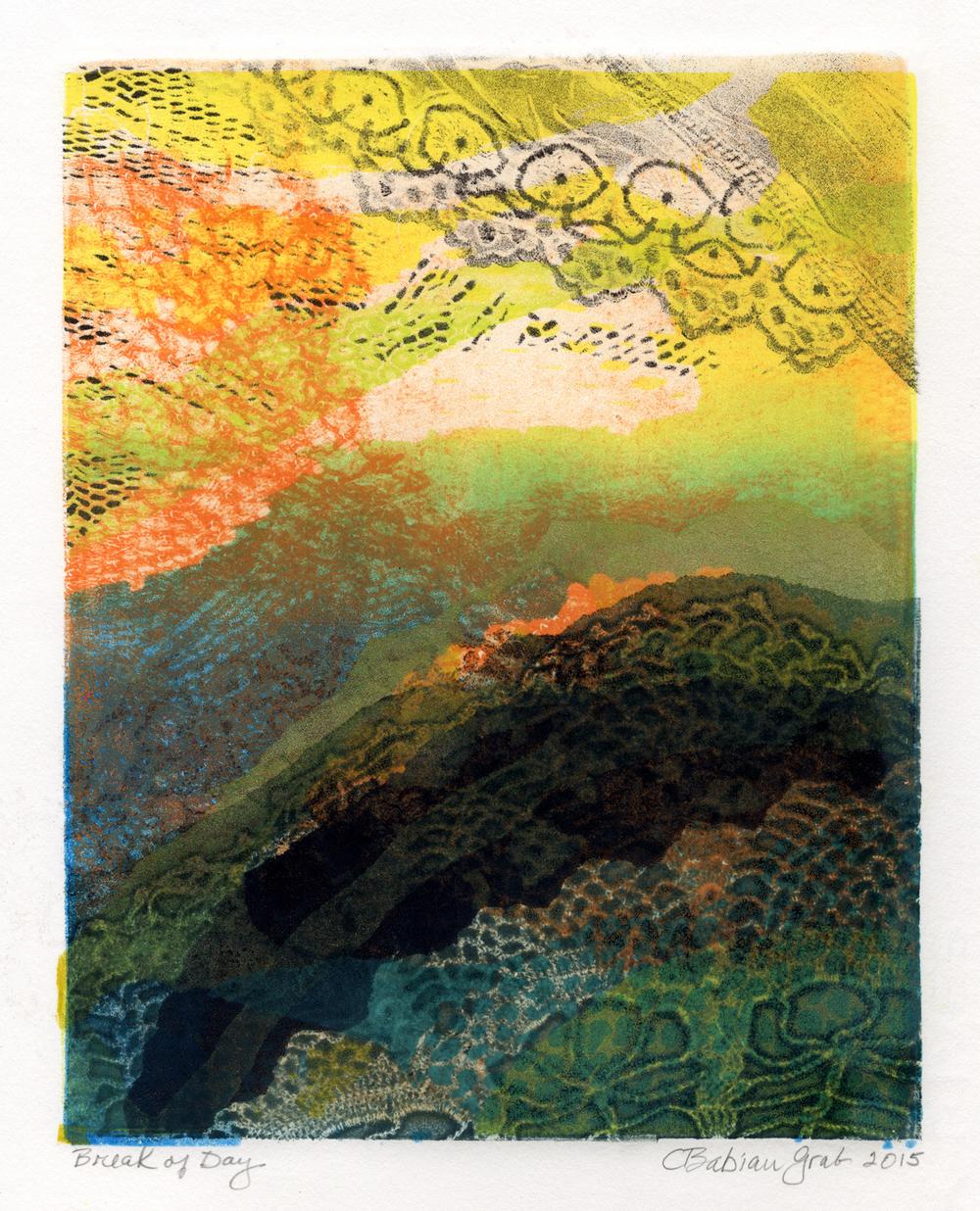Break of Day,  monotype, 11 x 9 inches, 2015