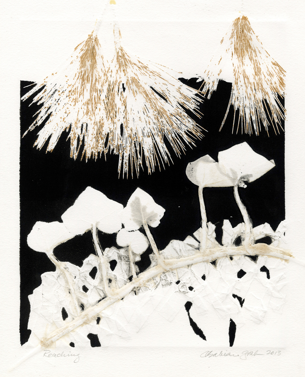 Reaching,  monotype, 11 x 9 inches, 2013