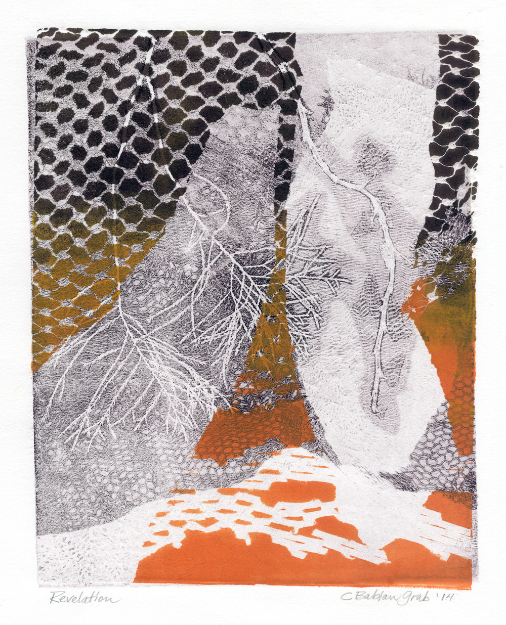 Revelation,  monotype, 11 x 9 inches, 2014