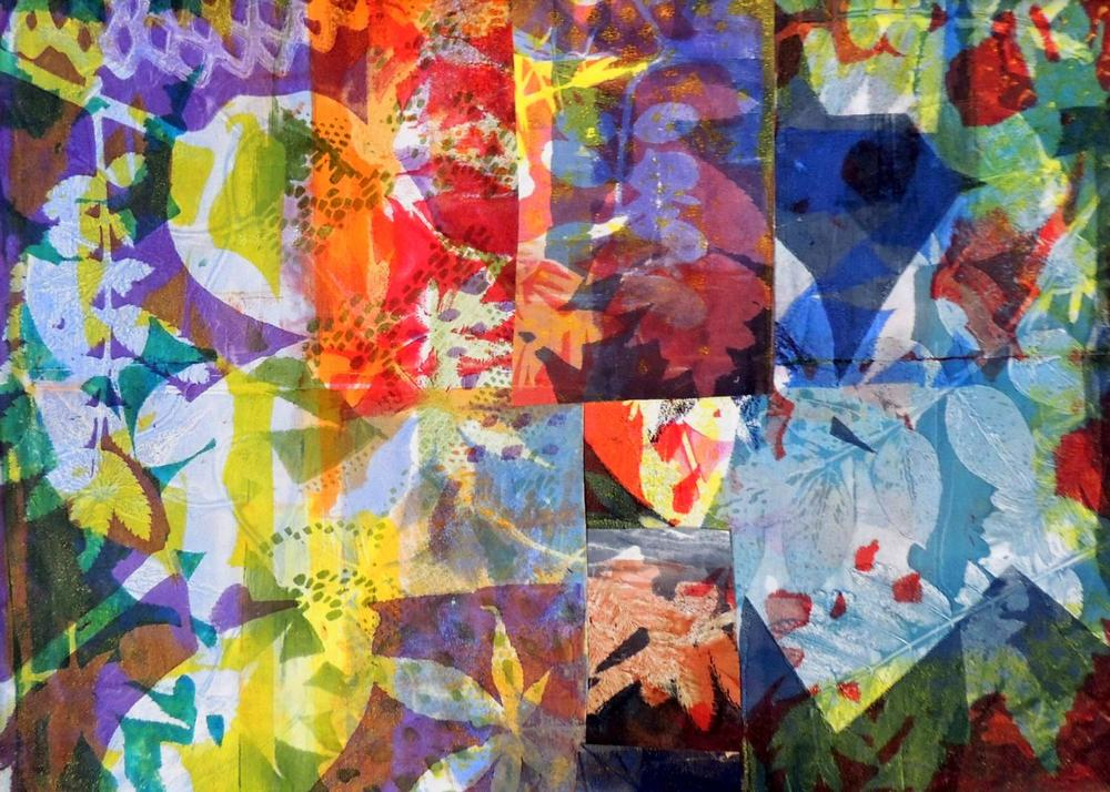 """Time for Celebration , monotype, 22"""" x 28"""""""