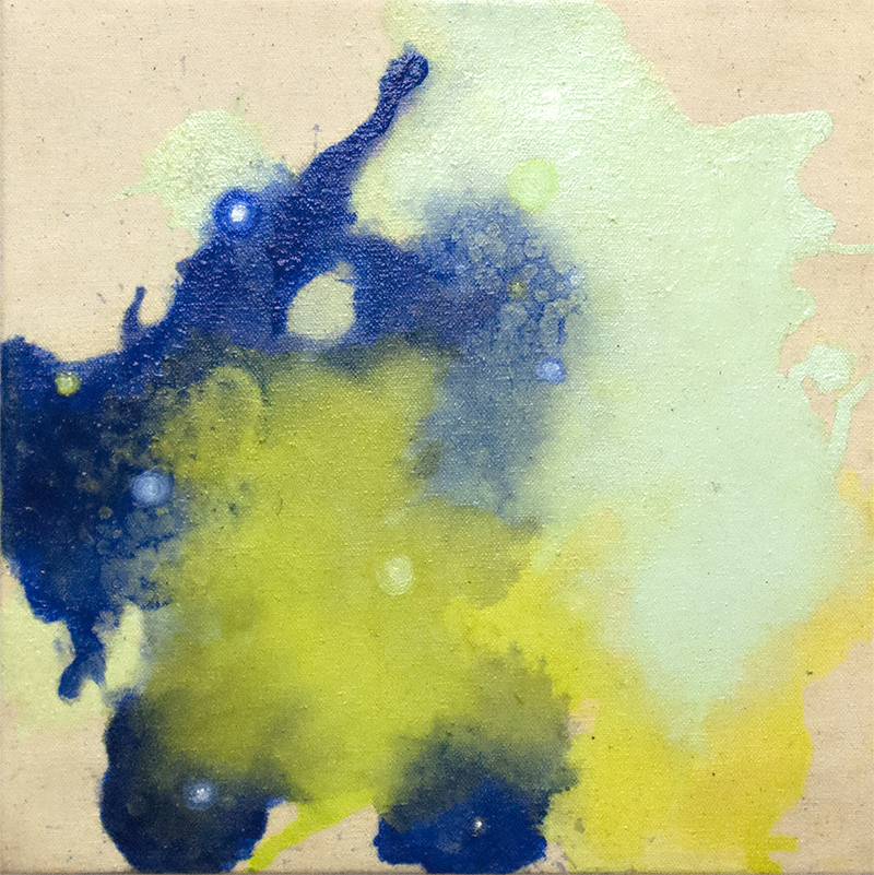 Deanna McCaw and Brooke Wayne,  Alluvium III , oil and acrylic on canvas, 12 x 12 inches, 2015