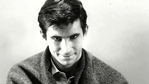 Anthony Perkins as Norman Bates in Psycho — 1960