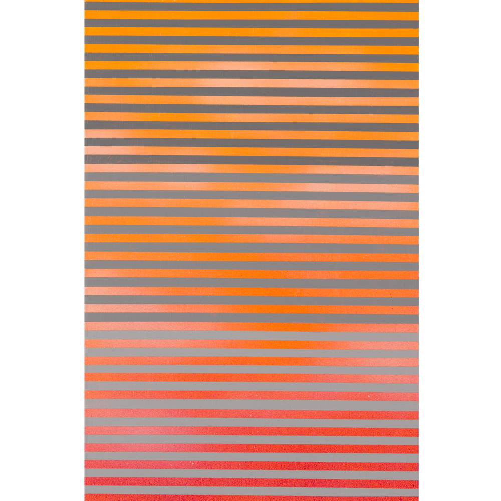 Orange Sky , Acrylic on Hand Cut Sheetrock, 15 x 10 inches, 2014. Private Collection.