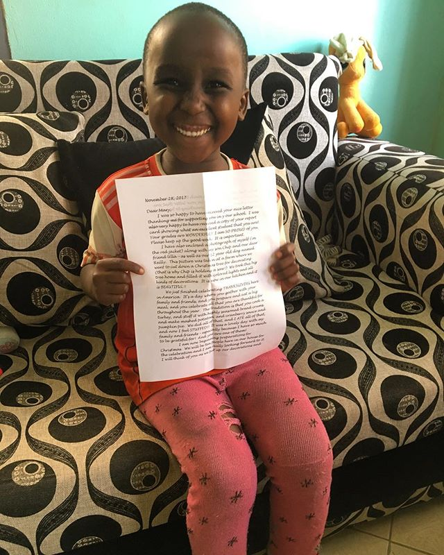 This is Mary! Mary is 5 years old and is holding up her letter from her sponsor here in California! Mary has been attending school for the last 2 years and is thriving! Her brother is also enrolled which makes things a little less stressful for this sweet pea! Hand delivered letters from our sponsors to our kids! They love reviving notes and pictures! #educate #sponsor #sponsored #love children #donate #nonprofit #blacklivesmatter #orphans #school #knowledge #knowledgeispower #arusha #africa #tanzania #usariver #support #tupendane #payitforward #help #educatingtanzaniafoundation