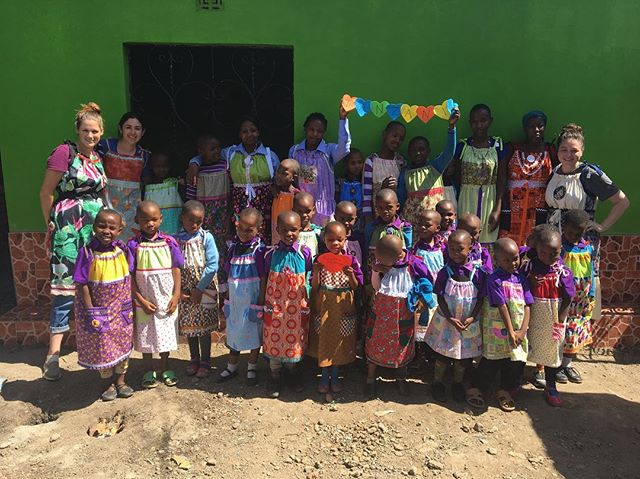 ETF Director, Nancy Bushek with 2 friends from the states, modeling the fabulous dresses from Dress a Girl Around the World with all the girls at Tupendane Orphanage! Dress a Girl has provided us hundreds of hand sewn dresses over the last 2 years! These ladies work extremely hard and put their love into each dress and the girls in Tanzania LOVE them! #dressagirlaroundtheworld #support #sponsor #blacklivesmatter #sponsored #donate #school #arusha #tanzania #africa #kids #children #orphans #nastywoman #empowerment #empoweringwomen #love #payitforward #nonprofit #school #help #usariver