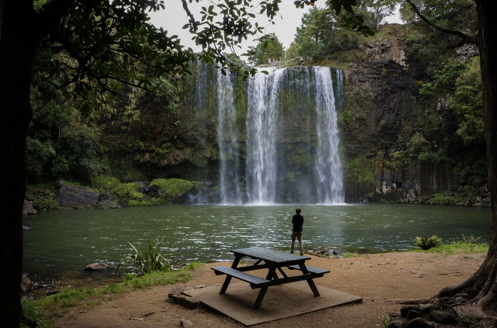 "Whangarei Falls, New Zealand.  Pro tip: ""wh"" is pronounce as ""f"" so this town is pronounce like FAIN-gah-ray."