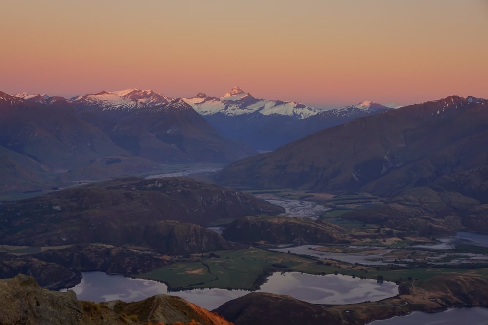 Mt. Aspiring National Park as seen from Roy's Peak.