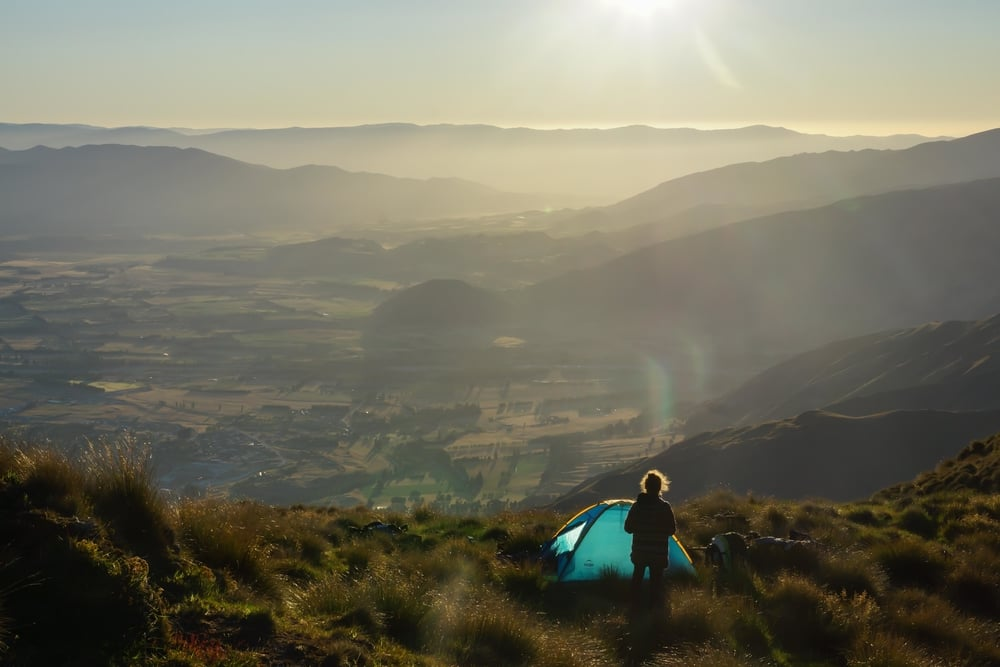 Quiet campsite above Wanaka township.