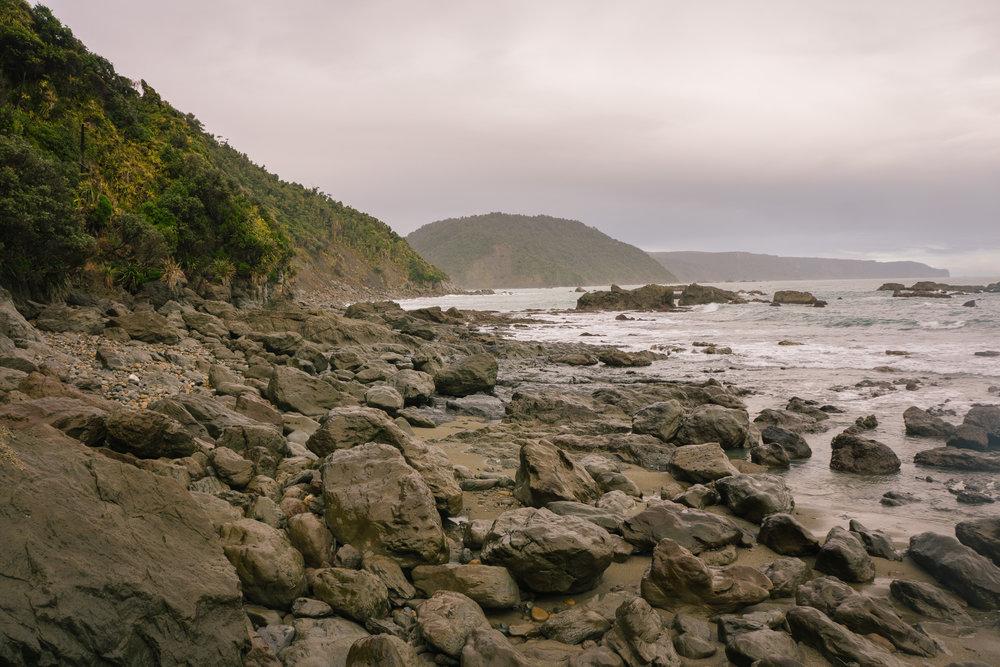 Low tide along the coast.