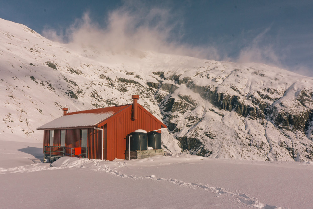 Brewster Hut in Winter