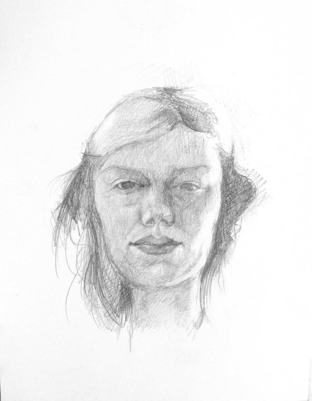 Self Portrait, 2004,pencil on paper,500x700 mm