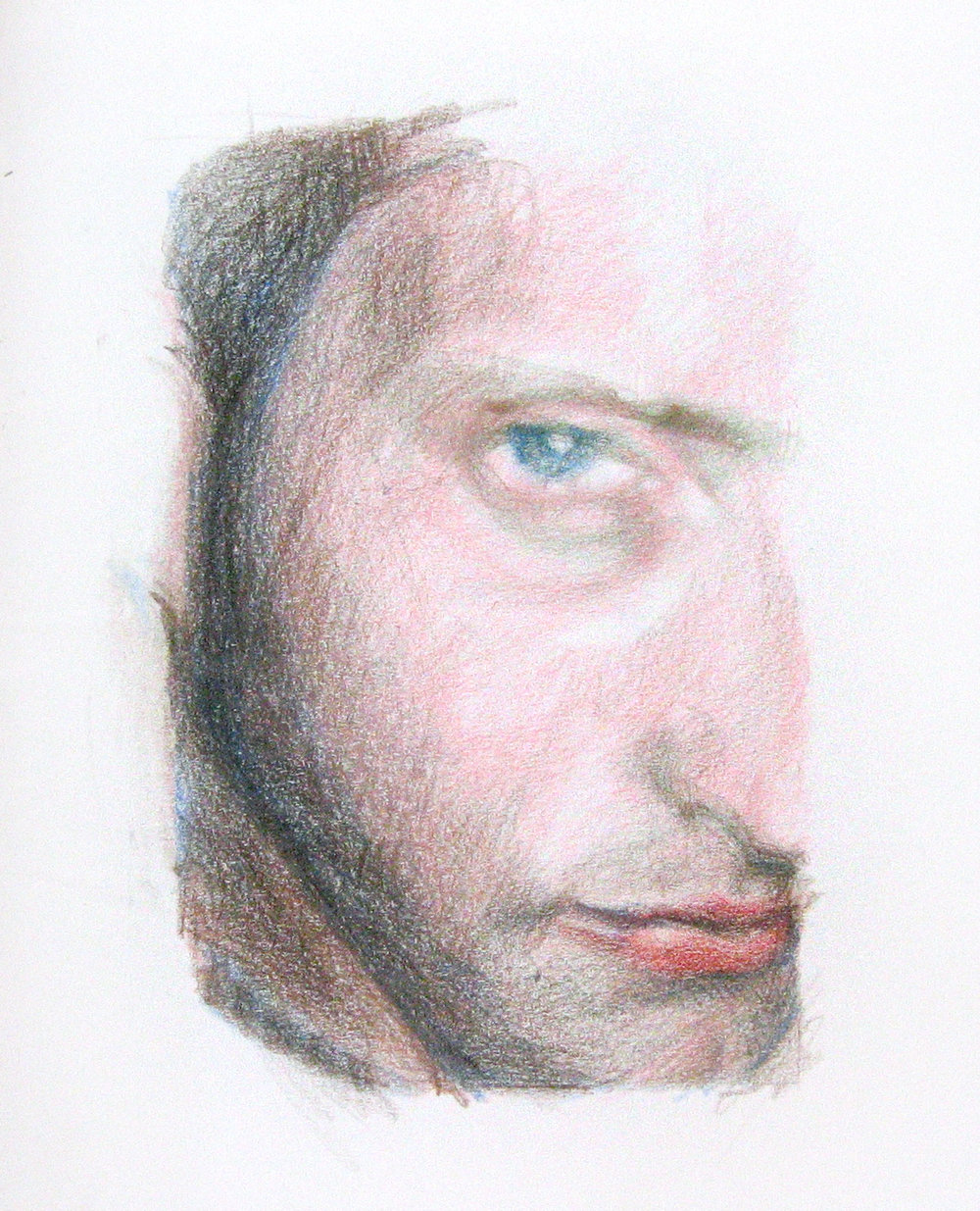 Avner, 2004, colored pencil on paper,210x297 mm