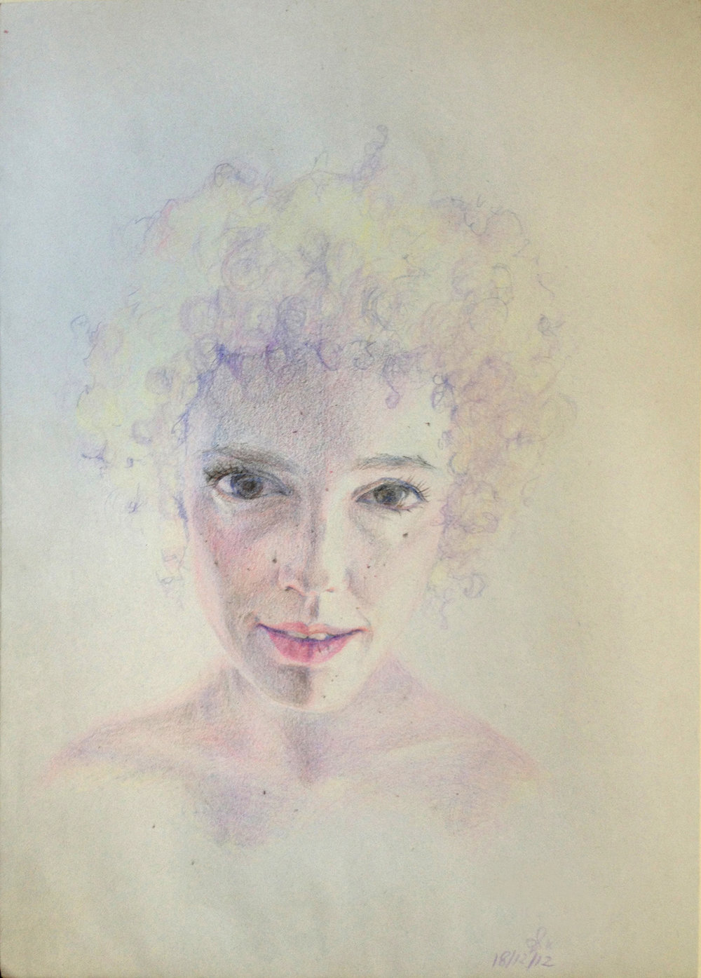 Mika Sade,2012,colored pencil on paper,210x297 mm