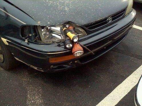I fixed your broken headlight for you!