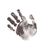 Dear little chubby hand print ...