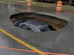 The potholes in the parking lot were getting pretty bad ...