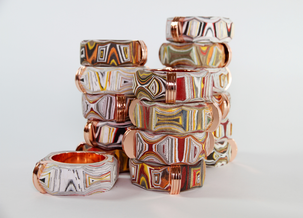 Processed Paper Bracelets, with  Chris Gelinas  NY