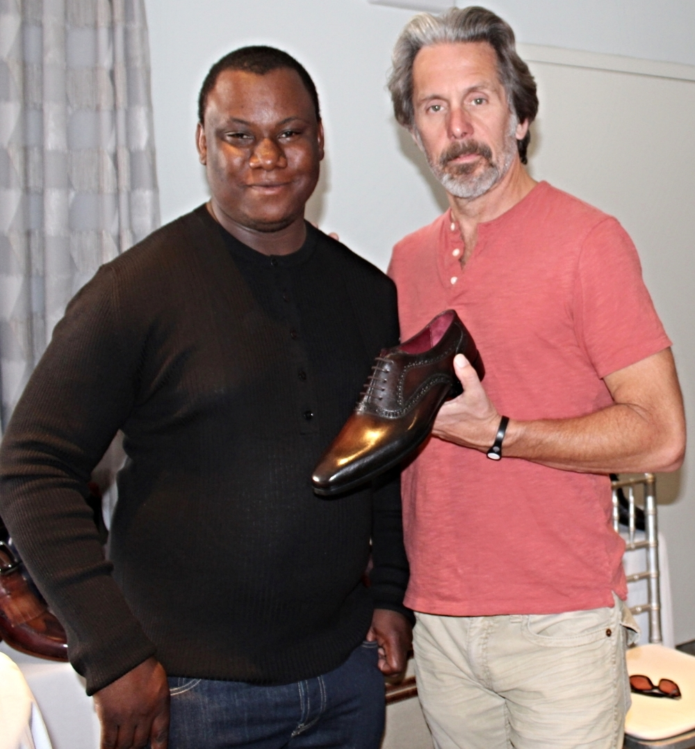 Actor Gary Cole with our Rolando model shoe