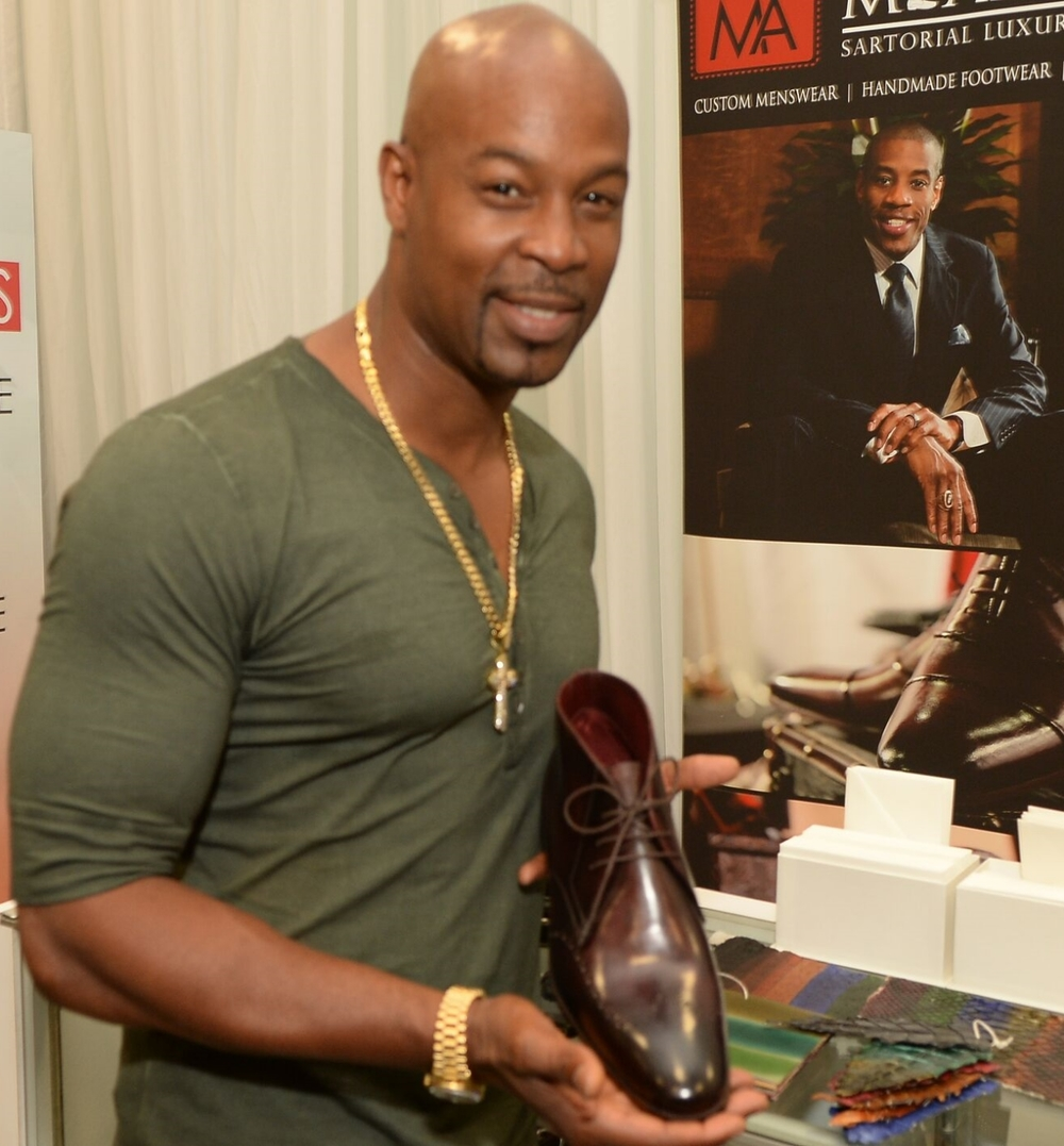 Actor Darrin Henson with our Churchill model dress boot