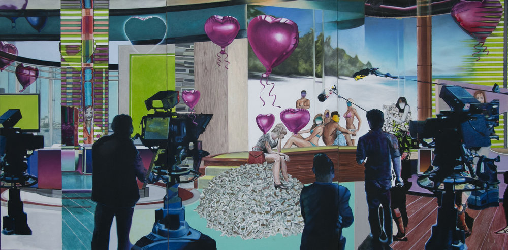 For Love Nor Money  - Oil on canvas - 150cm x 300cm - 2017