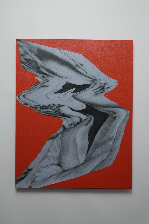 Everted Ground -  oil on canvas - 55cm x 70cm - 2019