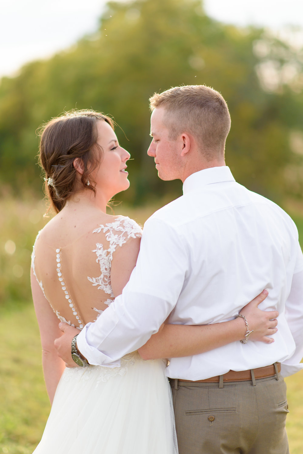 bride and groom with back kentucky outdoor wedding january june photography