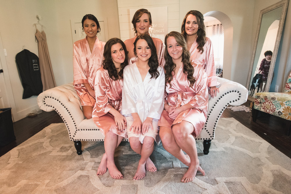 bridesmaids and bride before wedding january june photography
