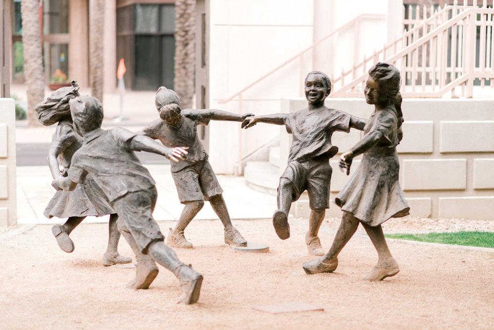 <alt>statues of children playing phoenix basilica january june photography kentucky photographer</alt>