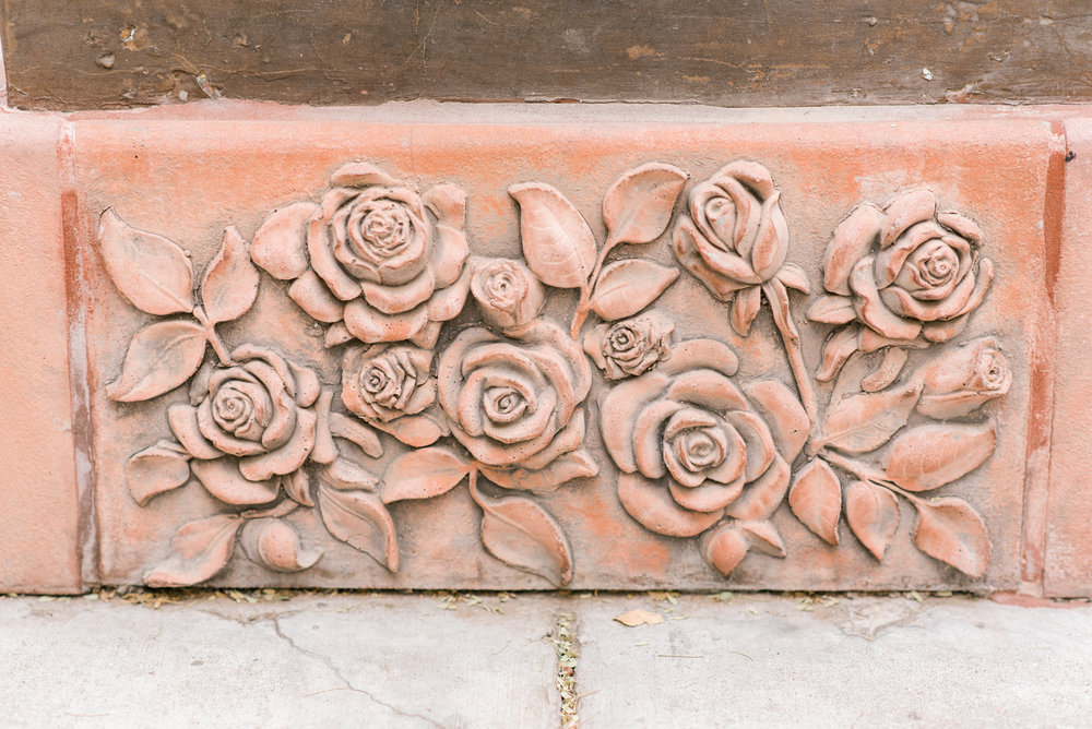 <alt>rose details at base of statue mary's basilica phoenix arizona taken by kentucky photographer january june photography</alt>